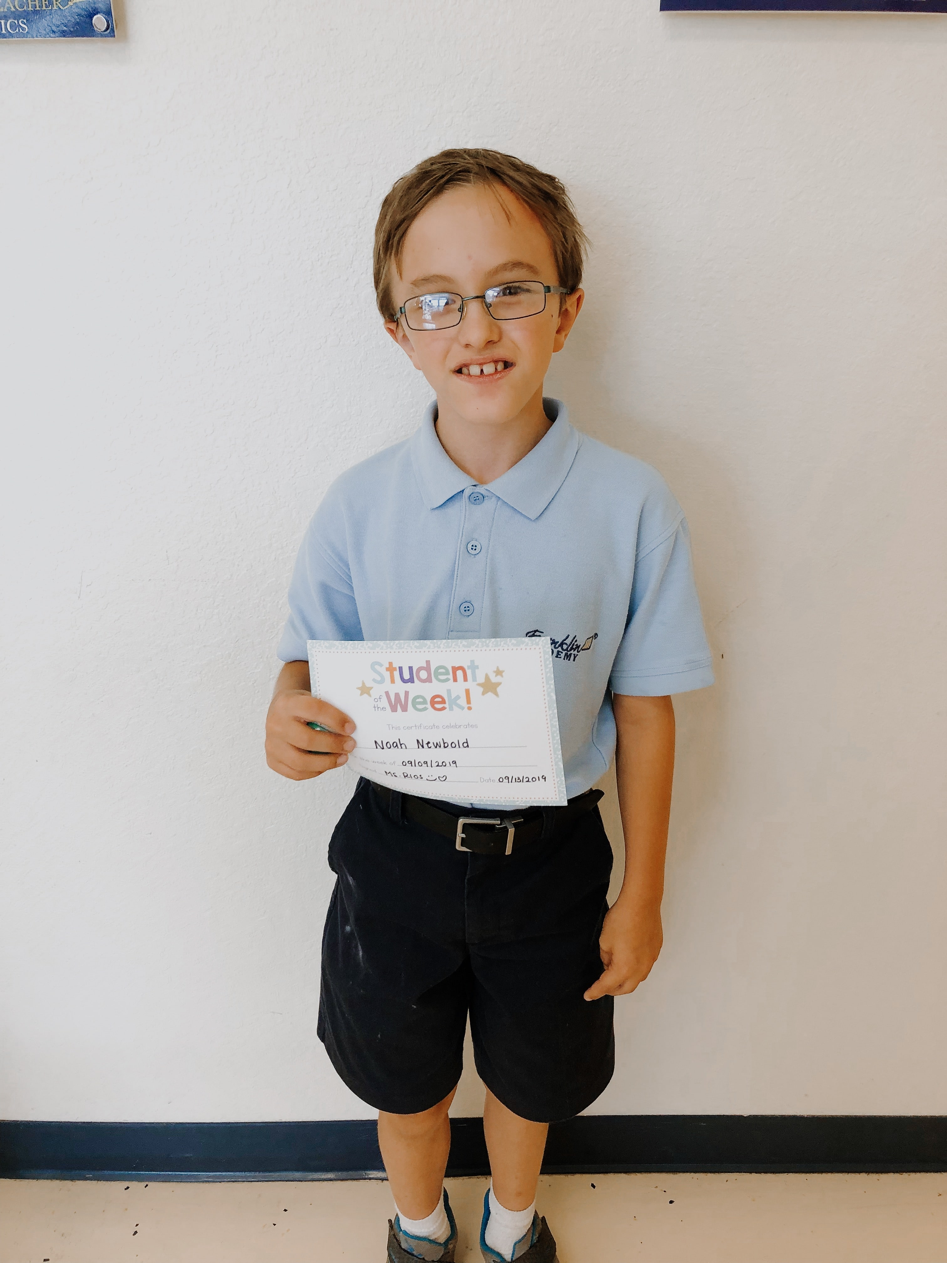 STUDENT OF THE WEEK! Image number 3