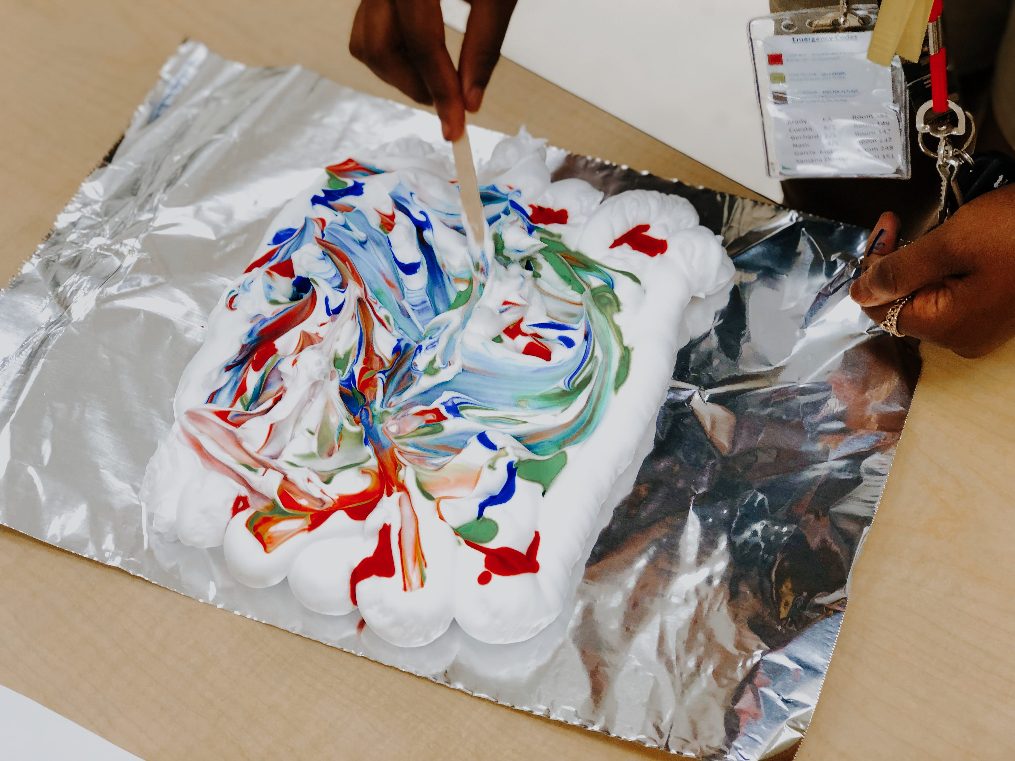 Shaving Cream Marble Painting! Image number 2